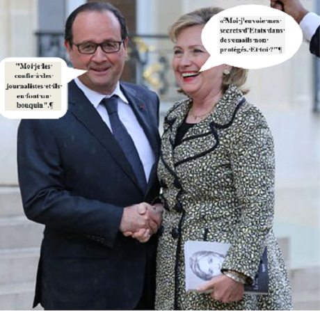 Privatisation des secrets d'Etat : Hilary Clinton et François Hollande 8 07 14